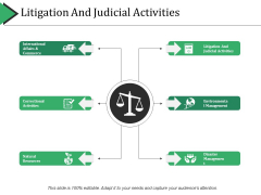 Litigation And Judicial Activities Ppt PowerPoint Presentation Infographic Template Slideshow