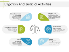 Litigation And Judicial Activities Ppt PowerPoint Presentation Slides Elements