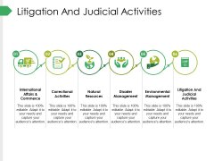 Litigation And Judicial Activities Ppt PowerPoint Presentation Summary Outfit
