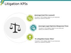 Litigation Kpis Ppt PowerPoint Presentation Layouts Graphics Template
