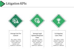 Litigation Kpis Ppt PowerPoint Presentation Styles Aids