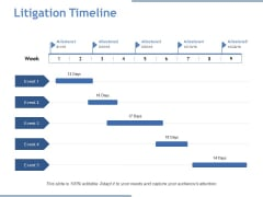 Litigation Timeline Ppt PowerPoint Presentation Icon Vector