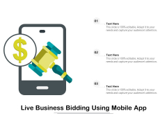 Live Business Bidding Using Mobile App Ppt PowerPoint Presentation Styles Information PDF