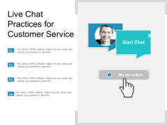 Live Chat Practices For Customer Service Ppt PowerPoint Presentation Infographics Layout