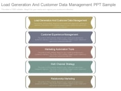 Load Generation And Customer Data Management Ppt Sample