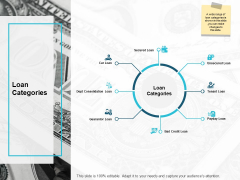 Loan Categories Guarantor Loan Ppt PowerPoint Presentation Outline Structure