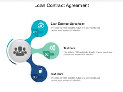 Loan Contract Agreement Ppt PowerPoint Presentation Pictures Microsoft Cpb