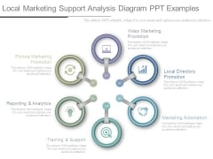 Local Marketing Support Analysis Diagram Ppt Examples