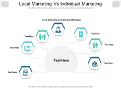 Local Marketing Vs Individual Marketing Ppt PowerPoint Presentation Inspiration Background Image Cpb Pdf