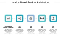 Location Based Services Architecture Ppt PowerPoint Presentation Inspiration Gallery Cpb Pdf