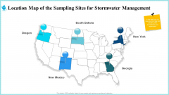 Location Map Of The Sampling Sites For Stormwater Management Icons PDF