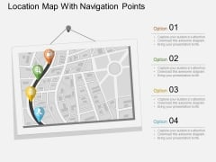 Location Map With Navigation Points Powerpoint Template