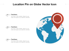 Location Pin On Globe Vector Icon Ppt PowerPoint Presentation Gallery Ideas PDF