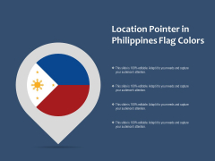 Location Pointer In Philippines Flag Colors Ppt PowerPoint Presentation Outline Graphics Example PDF