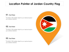 Location Pointer Of Jordan Country Flag Ppt PowerPoint Presentation Infographic Template Introduction PDF