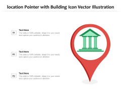 Location Pointer With Building Icon Vector Illustration Ppt PowerPoint Presentation File Guidelines PDF