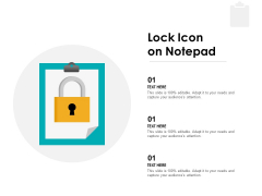 Lock Icon On Notepad Ppt PowerPoint Presentation Infographic Template Format
