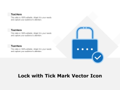 Lock With Tick Mark Vector Icon Ppt PowerPoint Presentation Model Graphics Template