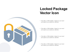 Locked Package Vector Icon Ppt PowerPoint Presentation Professional Design Inspiration