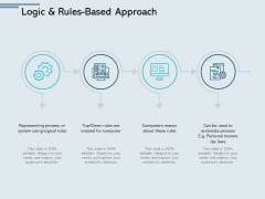 Logic And Rules Based Approach Process Ppt PowerPoint Presentation Professional Vector