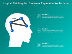 Logical Thinking For Business Expansion Vector Icon Ppt PowerPoint Presentation File Styles PDF