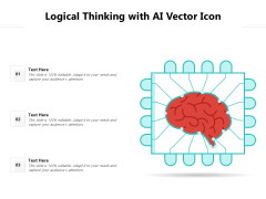 Logical Thinking With AI Vector Icon Ppt PowerPoint Presentation Portfolio Aids PDF