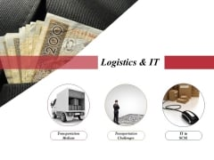 Logistics And It Ppt PowerPoint Presentation Show Vector