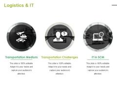 Logistics And It Ppt PowerPoint Presentation Slides Designs