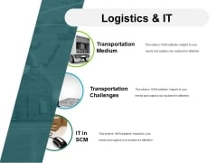 Logistics And It Ppt PowerPoint Presentation Slides Graphics Download