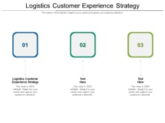 Logistics Customer Experience Strategy Ppt PowerPoint Presentation Gallery Ideas Cpb Pdf