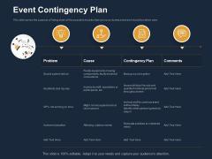 Logistics Events Event Contingency Plan Ppt Portfolio Display PDF