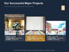 Logistics Events Our Successful Major Projects Ppt Infographics Introduction PDF