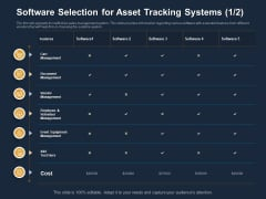 Logistics Events Software Selection For Asset Tracking Systems Ppt Gallery Graphics Template PDF