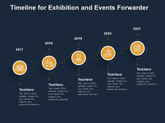 Logistics Events Timeline For Exhibition And Events Forwarder Ppt Styles Brochure PDF