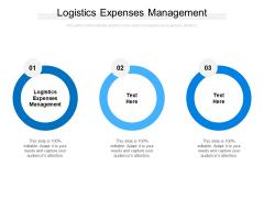 Logistics Expenses Management Ppt PowerPoint Presentation Portfolio Guidelines Cpb