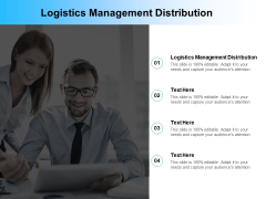 Logistics Management Distribution Ppt PowerPoint Presentation Infographics Information Cpb