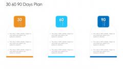 Logistics Management Framework 30 60 90 Days Plan Mockup PDF