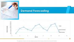 Logistics Management Framework Demand Forecasting Graphics PDF