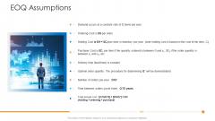 Logistics Management Framework EOQ Assumptions Infographics PDF