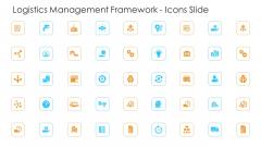 Logistics Management Framework Icons Slide Guidelines PDF