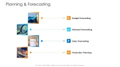 Logistics Management Framework Planning And Forecasting Infographics PDF