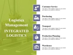 Logistics Management Ppt PowerPoint Presentation Icon Elements