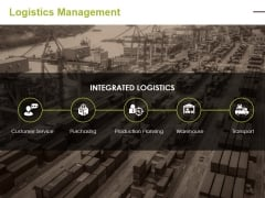 Logistics Management Ppt PowerPoint Presentation Infographics Elements