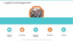 Logistics Operations Management In Supply Chain Network Logistics Management Mockup PDF