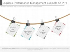 Logistics Performance Management Example Of Ppt
