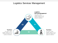 Logistics Services Management Ppt PowerPoint Presentation Gallery Designs Cpb