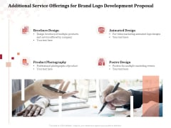 Logo Design Additional Service Offerings For Brand Logo Development Proposal Topics PDF
