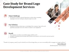 Logo Design Case Study For Brand Logo Development Services Ppt Gallery Examples PDF