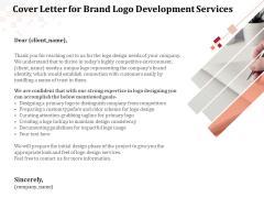 Logo Design Cover Letter For Brand Logo Development Services Ppt Visuals PDF