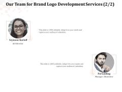Logo Design Our Team For Brand Logo Development Services Director Elements PDF